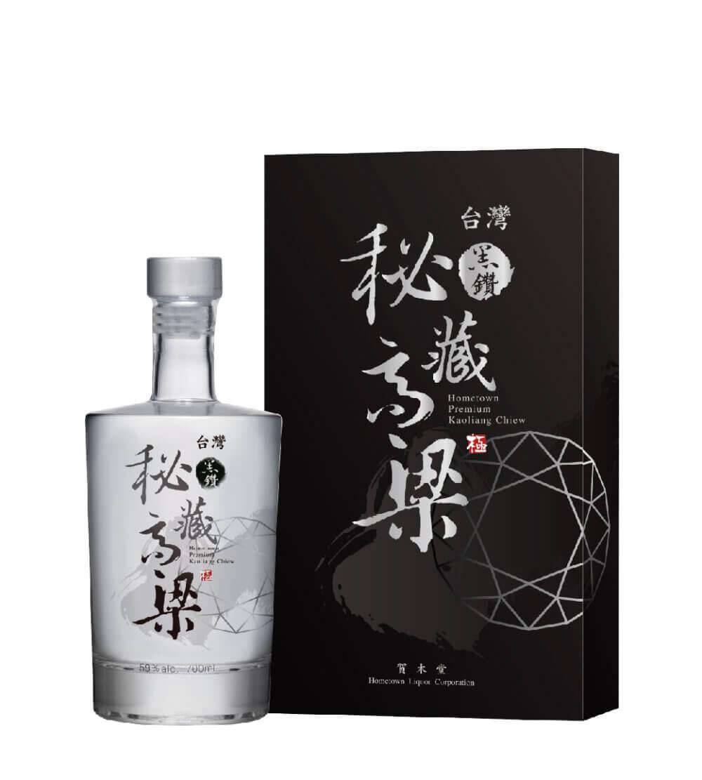 賀木堂,台灣黑鑽秘藏高粱酒禮盒 59° ,Hometown Premium Kaoliang Chiew Gift Box -Black Diamond ver. 59°